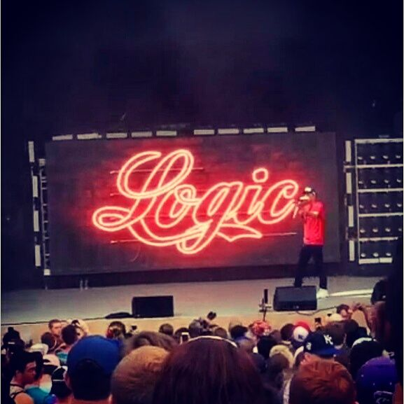 """The Endless Summer Concert Logic and G-eazy. This was the first concert I ever attended. Logic is one of my favorite rappers I own an autographed poster.  I love him because he promotes peace love and positivity """"Logic is the only rap concert you can go to and NOT get shot"""""""