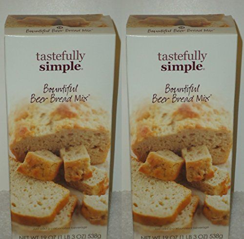 Tastefully Simple 2-pack Bountiful Beer Bread Mix ^^ Get more discounts! Click the pin: at baking desserts recipes.