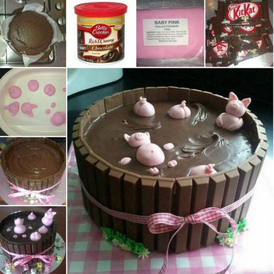 Learn how to make the famous Pigs In Mud KitKat Cake. It's easy when you follow the video tutorial and you are going to love the results.