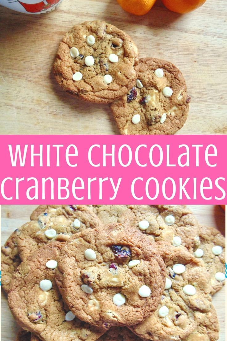 White Chocolate Cranberry Cookies: soft and chewy cookies with crispy edges, crammed with white chocolate and tangy cranberries!