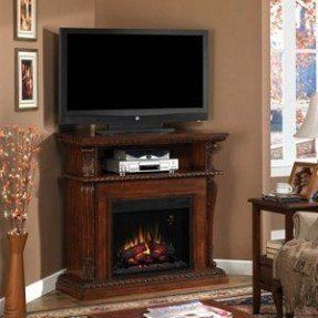 Vintage Cherry Finish     Multi-function media cabinet with integrated wire management