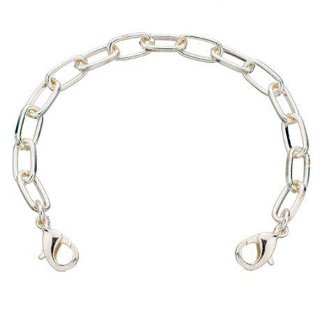 Bracelet métal argenté rectangulaire d'alerte par MyIDSquare