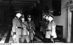 The Bremen Schutzpolizei is inspected by the chief of the Ordnungspolizei Kurt Daluege 1937