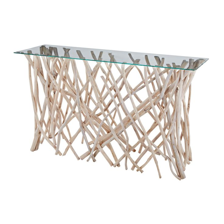 Teak Root Coffee Table Canada: Teak Root Console. Natural Driftwood Branches Are Finished