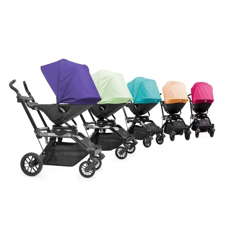 Passeggino Orbit Baby G3. Comprende telaio, carrozzina, tessuto passeggino, cestino portaoggetti, cappottina a scelta in 6 diversi colori. Il primo passeggino al mondo che permette di reclinare eruotare la seduta di 360° con un semplice movimento.