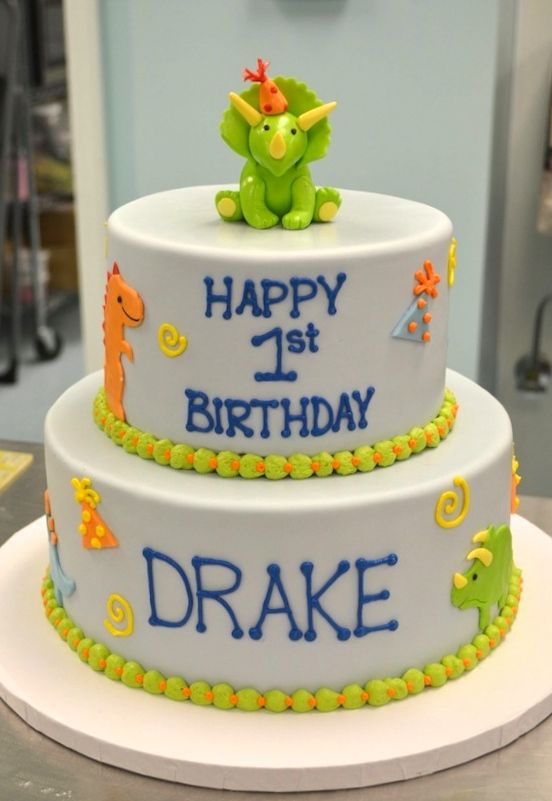 Dinosaur+First+Birthday+Cake+Sugarland+Raleigh+Chapel+Hill