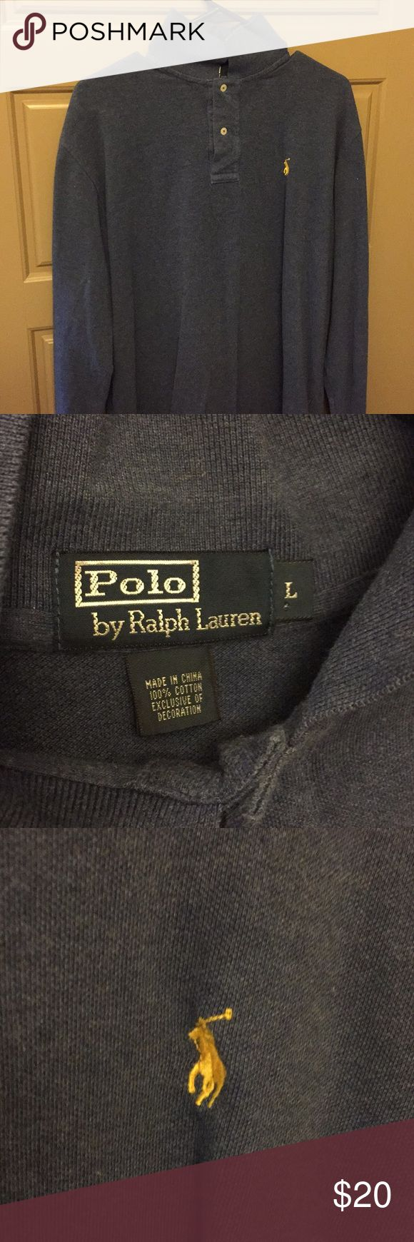 Long-sleeve Polo shirt Used and in good condition. Long-sleeve Polo. Blue Polo by Ralph Lauren Shirts Polos