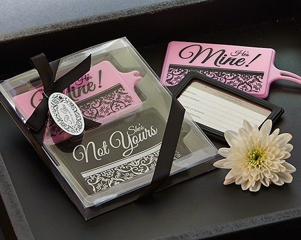 """""""Mine Not Yours"""" His & Hers Luggage Tag Set from HotRef.com #luggagetag"""