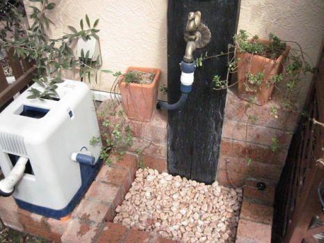 DIYでリフォーム!お庭の水道をおしゃれにするアイデア7選♪ | iemo[イエモ]
