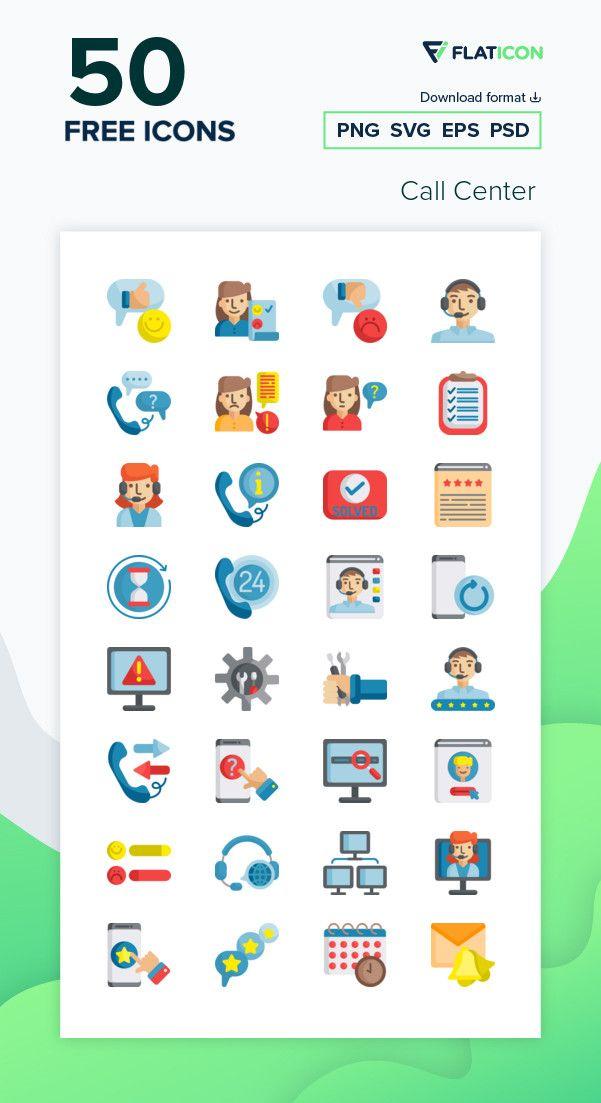 50 Free Vector Icons Of Call Center Designed By Freepik Free Icon Packs Call Center Design Icon