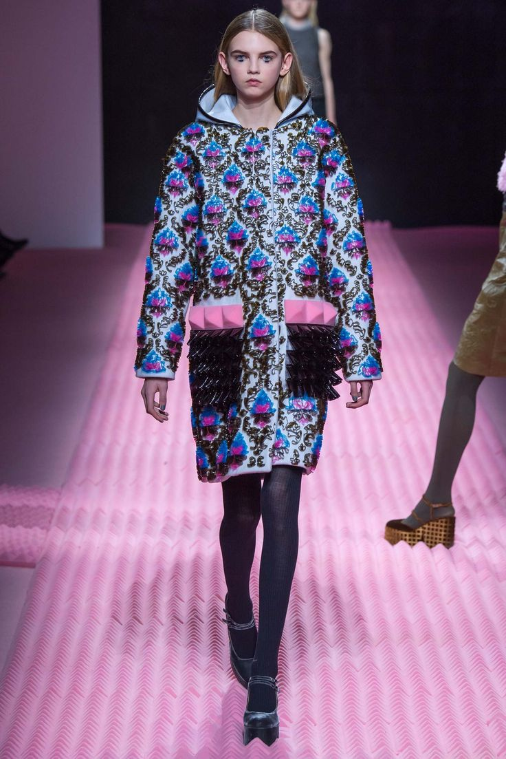 Mary Katrantzou Fall 2015 Ready-to-Wear - sticking to simpler silhouettes  provides MK with room to experiment with embellishments like these foam  pyramid ...