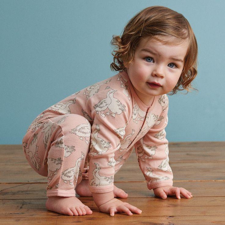 Organic Henley Pyjama Suit | Nature Baby