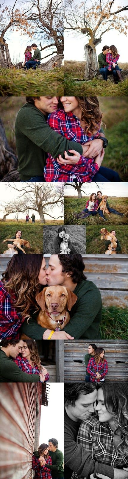 Inspiration for a cute, cozy country engagement shoot!