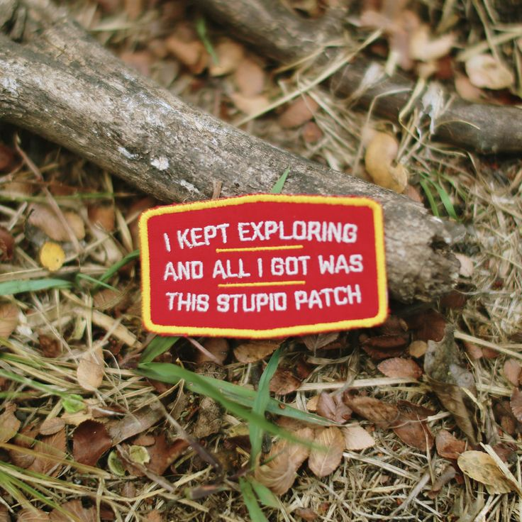 Sometimes you keep exploring, but all you get is a goofy little patch. This is…