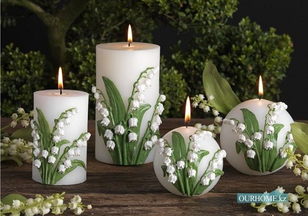 Beautiful candles lily of the valley pinterest