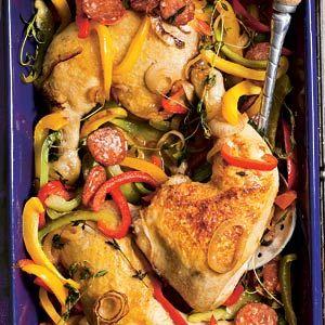 Recept - Spaanse kippenstoof met paprika - Allerhande