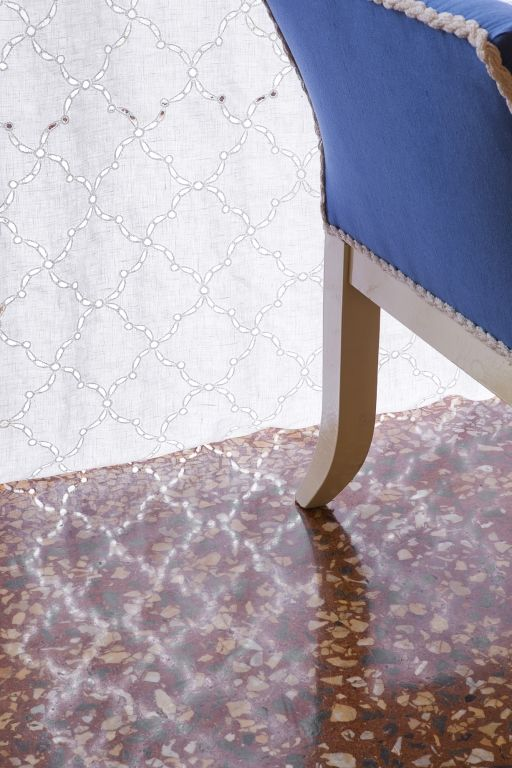 """toscana""refined fabric thanks to its intriguing transparencies; this wide width fabric is ideal for both classic and modern contexts"