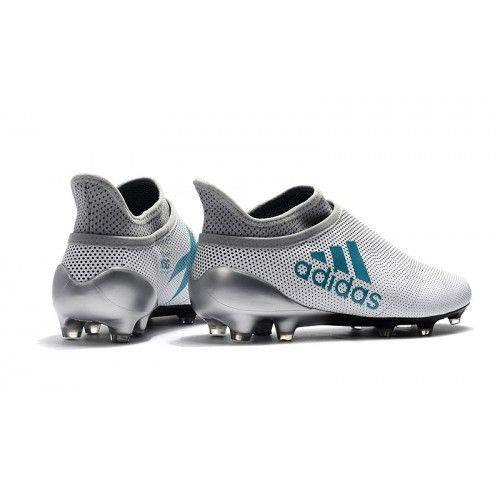 sale retailer e4c25 ea8c4 Zapatos De Futbol Adidas X 17+ Purechaos FG Blanco Negro Azul