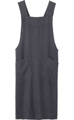 LINEN CROSS OVER APRON by TOAST