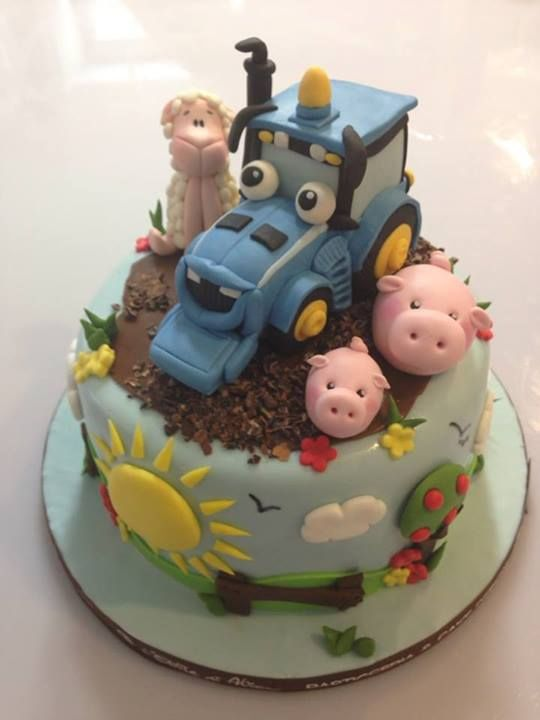 Tractor cake (but with John Deere tractor instead)