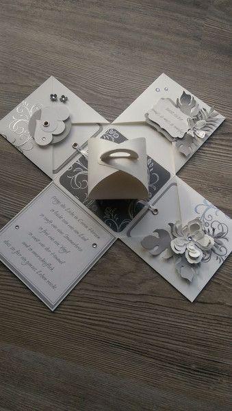 Geldgeschenke - * Box zur Hochzeit / Silber Hochzeit * NEU * - ein Designerstück von Mein-Kreativpoint bei DaWanda