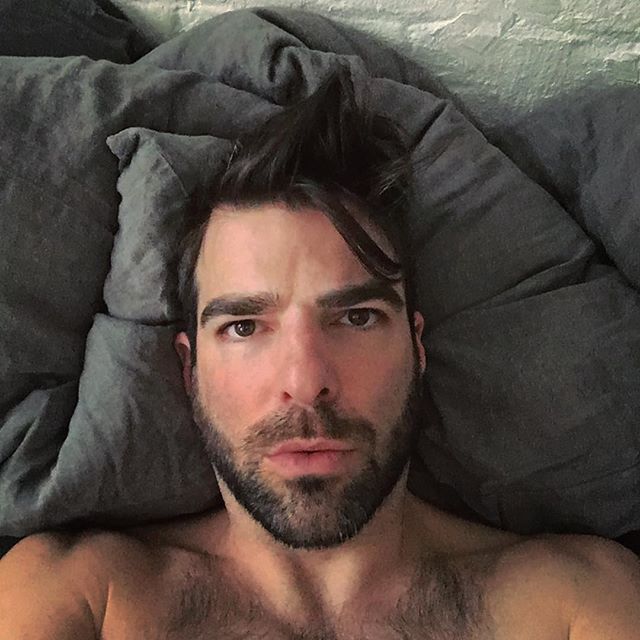 I wish I looked so hot when I was sick. Zachary Quinto you do look hot.