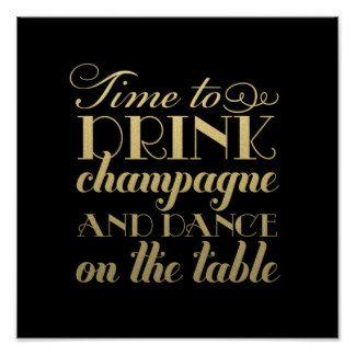 La bebida Champán y baila la muestra que se casa d Posters