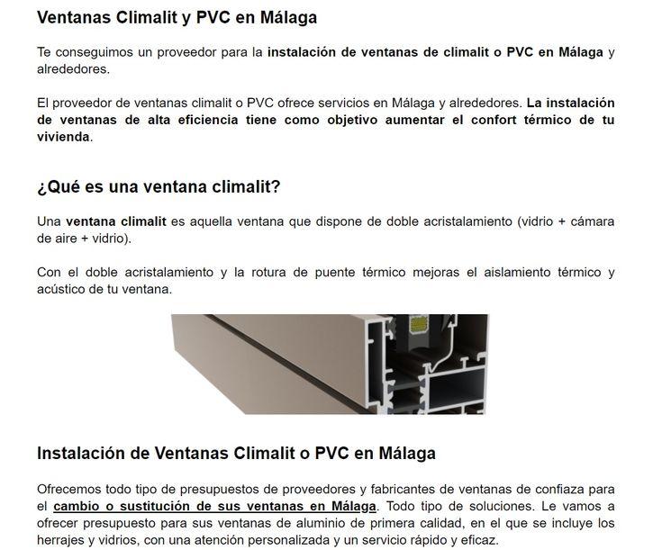 #Ventanas Climalit en #Málaga