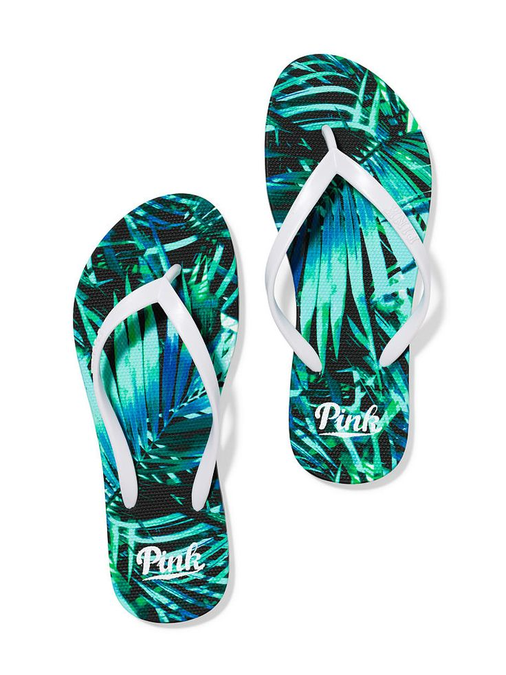 Flip-Flops in Fern Print $16.95- PINK - Victoria's Secret