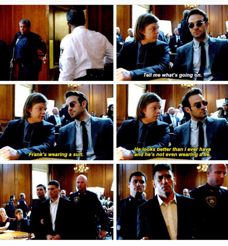 """He looks better than I ever have and he's not even wearing a tie"" - Matt and Foggy #Daredevil"