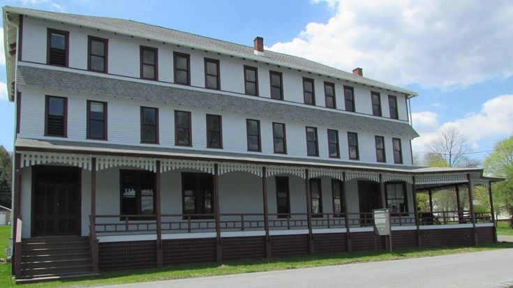 Johnstown Flood National Memorial, PA.   The South Fork Fishing & Hunting Club Clubhouse