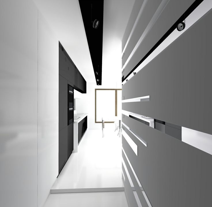 E N T R A N C E 52m2 apartment with a cubic bedroom in the center. You can simply walk around the cube bedroom.