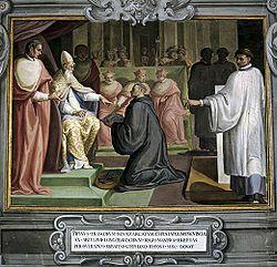 La donation de Pépin au pape Etienne II (754)- PEPIN III 1) BIOGRAPHIE. 1.2 ROI DES FRANCS.1.2.2: SOUTIEN DE LA PAPAUTE ET LUTTE CONTRE LES LOMBARDS, 8: Mais l'Exarchat de Ravenne, appartenait à l'Empire Romain d'Orient avant l'invasion des Lombards, et la reconquête par Pépin le Bref. Elle ne sera pas reconnue par l'empereur d'Orient, et elle va créer un conflit avec Constantinople.