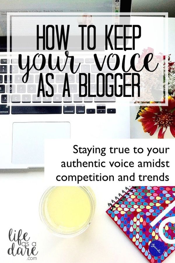 A guide to staying true to your voice in the blogging world