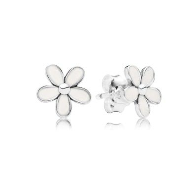 Pandora Daisy Flower Stud Earrings 290538EN12 at John Greed Jewellery Bridesmaid gift