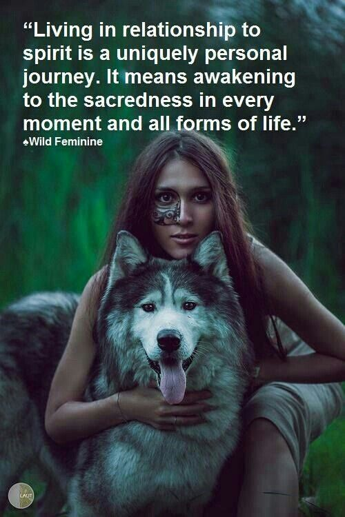 Living in relationship to spirit.