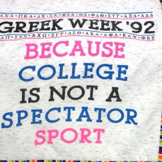 Greek Week... can this actually be the shirt next time we do greek week? or a version of this for late night?