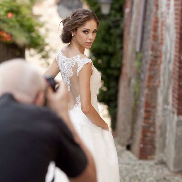 First picture from the backstage of the shooting of 2015 Alessandra Rinaudo collection #AlessandraRinaudo #2015collection #weddingdress @nicolespose