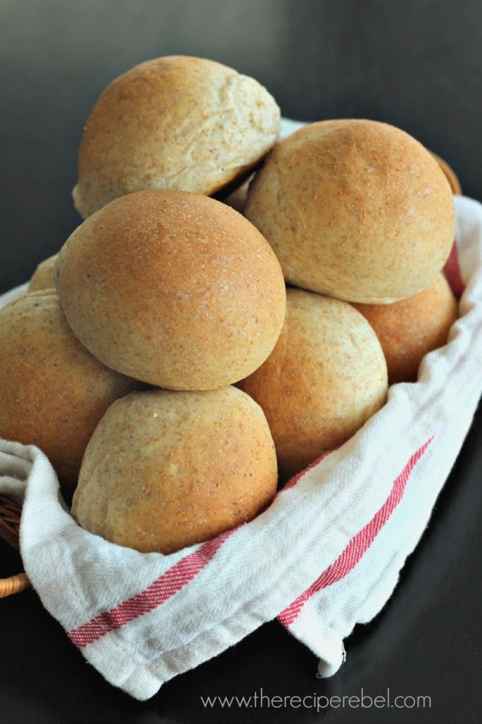 Buttery (Whole Wheat) Bread Machine Rolls - There's nothing better than fresh, homemade bread!