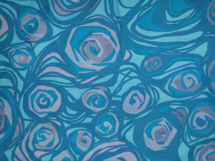Vintage Finnish Tampella fabric design Marjatta Metsovaara