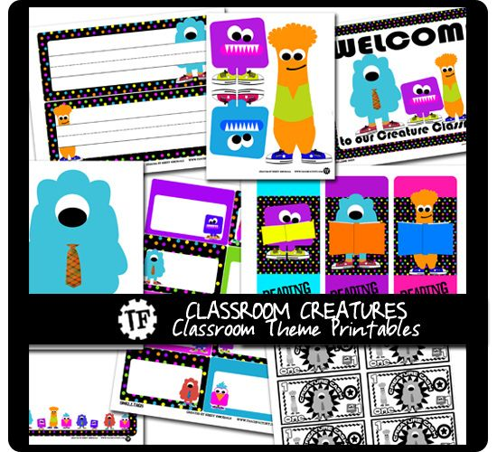 FREE Printables from Venspired.com {Classroom Theme Sets}
