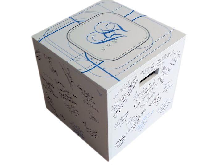 gastenbox als receptieboek bruiloft