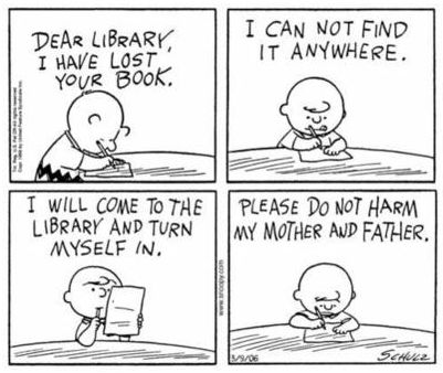 dear library....: Libraries, Peanut, Stuff, Library Books, Library Humor, Charliebrown, Charlie Brown