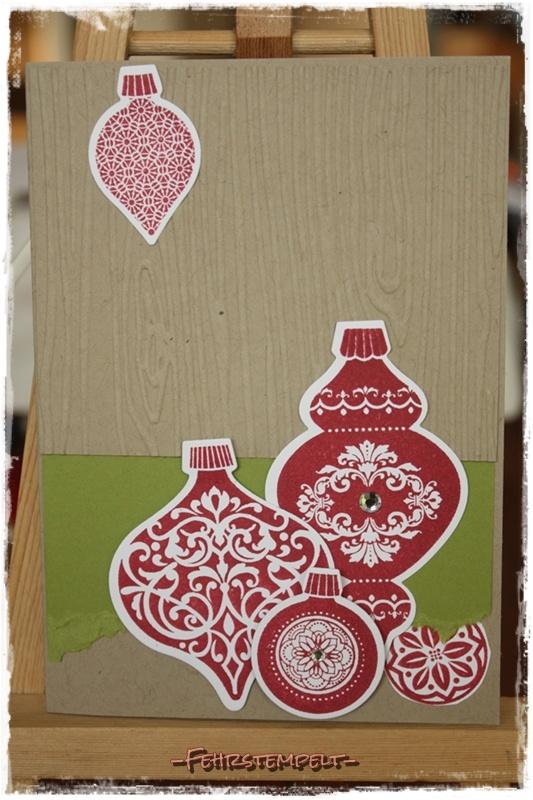 Weihnachtskarte mit Ornament Keepsakes