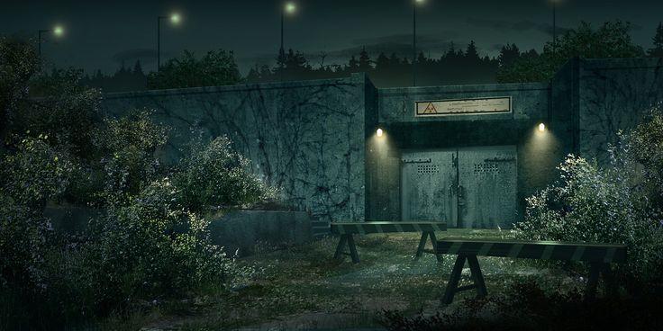 ArtStation - 3 Bunker Concepts, Andreas Rocha