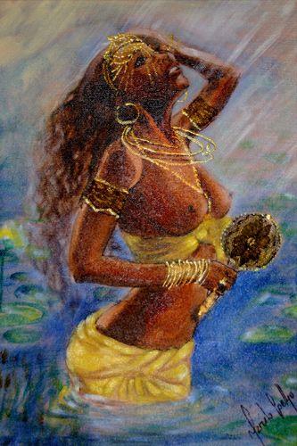 Iansã É relacionada ao elemento ar, sendo a divindades que controla os ventos. Tem temperamento agressivo. O nome Iansã é um título que Oyá recebeu de Xangô. Esse título faz referência ao entardece…