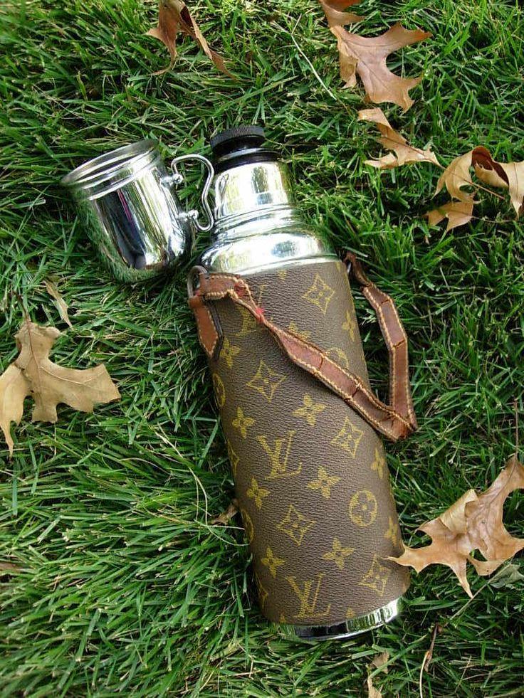 Louis Vuitton Picnic flask. a bit extravagant but seemingly practical
