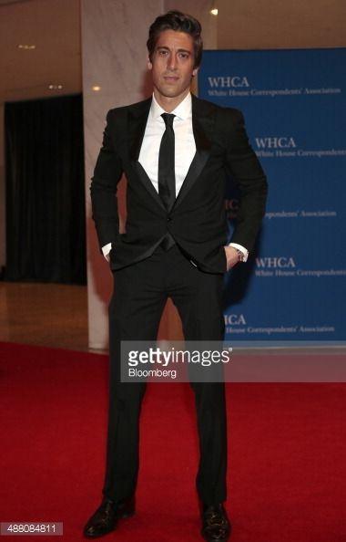 Journalist David Muir arrives for the White House Correspondents' Association (WHCA) dinner in Washington, D.C., U.S., on Saturday, May 3, 2014. The WHCA, celebrating its 100th anniversary, raises money for scholarships and honors the recipients of the organization's journalism awards. Photographer: Andrew Harrer/Bloomberg via Getty Images