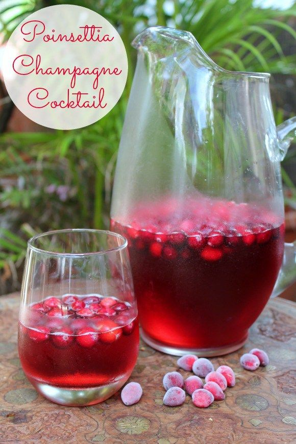 The Poinsettia is seasonal, festive, tasty, and cheap. Make up a pitcher for your next holiday party.