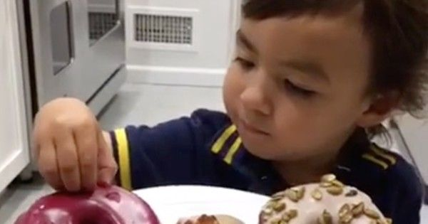 What Happens When This Kid Sees A Tray Full Of Donuts Is Comedic Gold